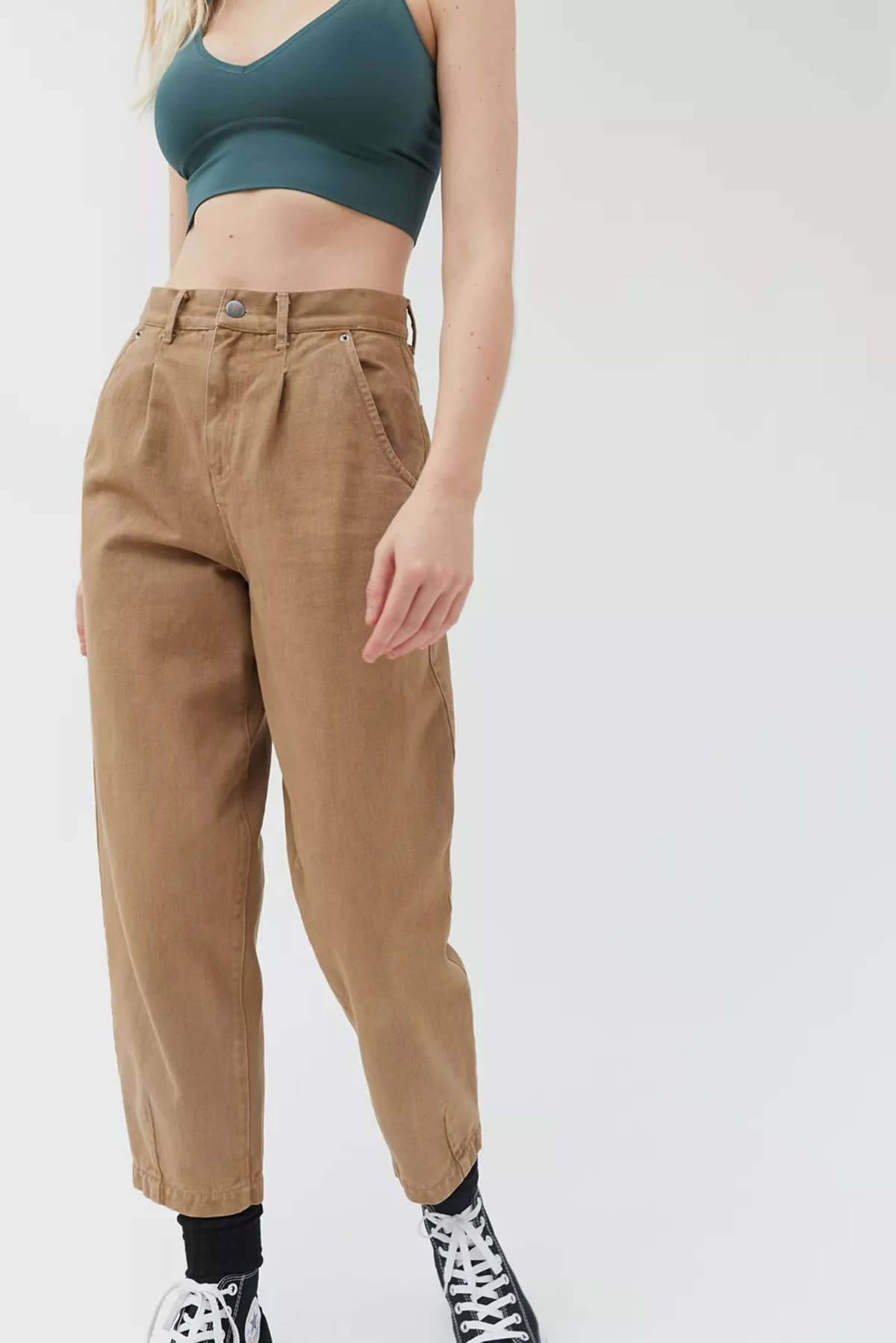 Blue Ember Pleated High-Waisted Pant