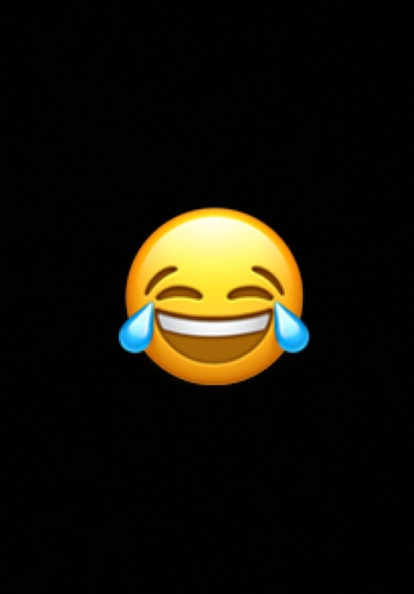 The laughing tears emoji is widely used to show that something is hilarious.