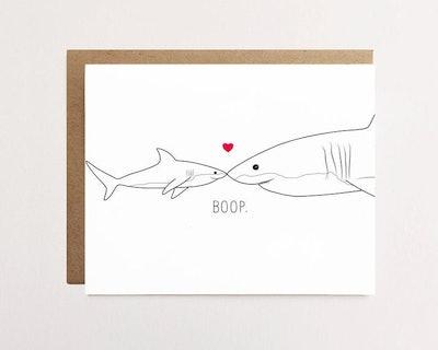 Baby Shark & Mommy Shark Card
