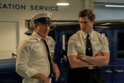 Dylan McDermott as Ernie West & David Corenswet as Jack Castello in 'Hollywood'