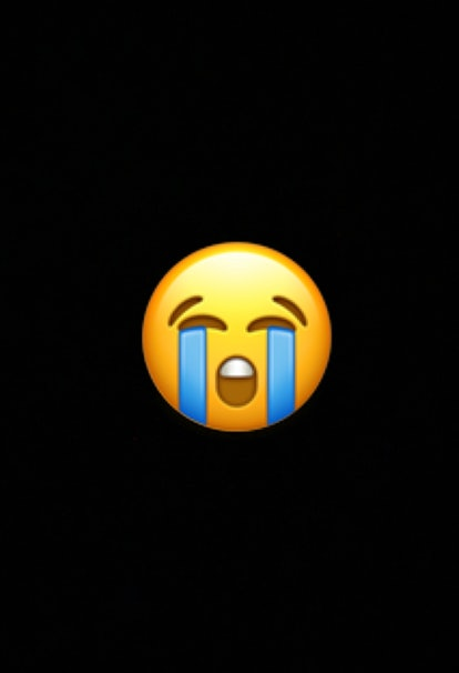 The loudly crying face emoji conveys uncontrollable laughter or overwhelming joy.