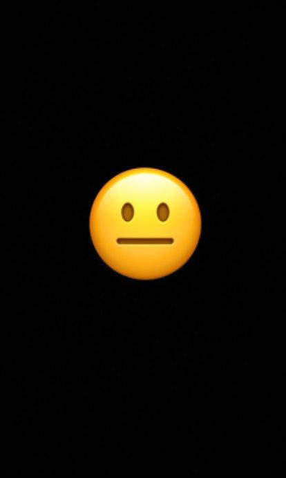 The neutral face emoji conveys mild irritation or passing judgement.
