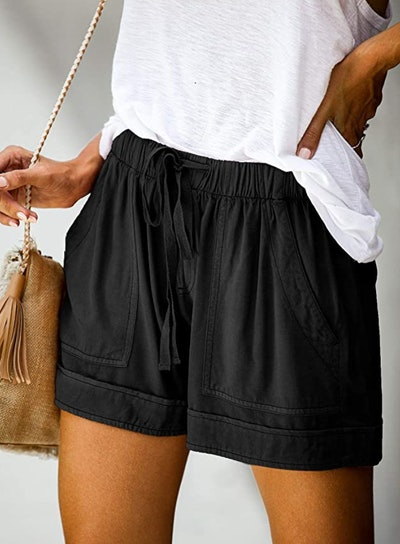 Elapsy Elastic Waist Shorts