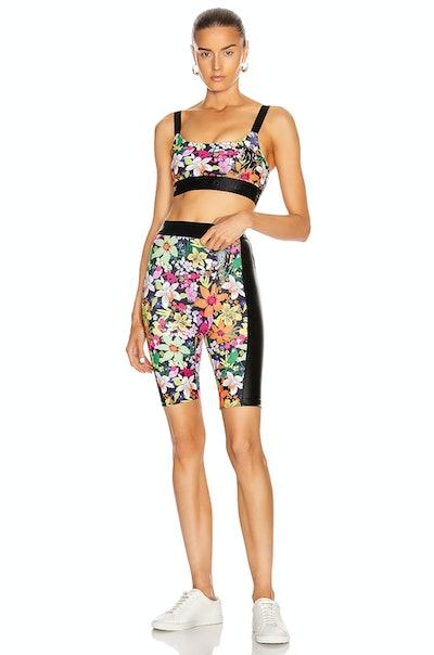 Floral Biker Short