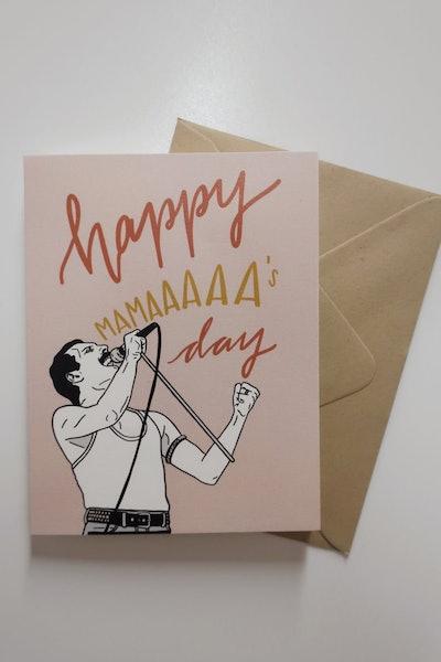 Freddie Mercury Mama's Day Card