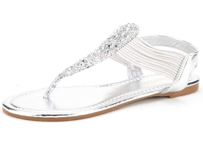 DREAM PAIRS Sparkly Women's Elastic Strappy Sandals