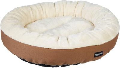 AmazonBasics Round Bolster Dog Bed