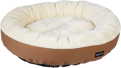AmazonBasics Round Bolster Dog Bed