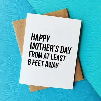 Social Distancing Mother's Day Card