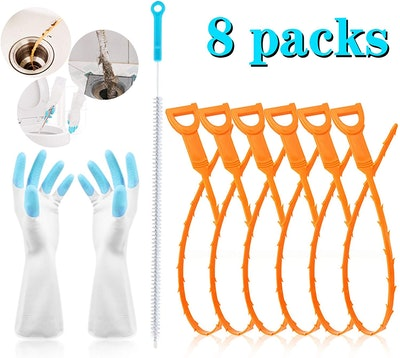 Sugelary Drain Clog Remover (8-Pack)