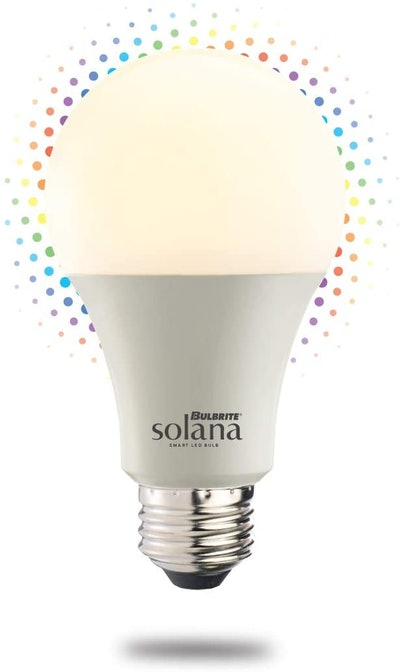 Bulbrite Solana WiFi Connected Color Changing LED Smart Light Bulb