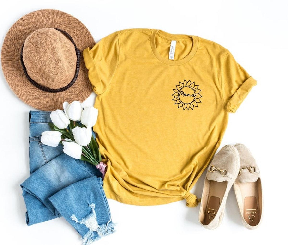 RoyalBabesCo Mama Sunflower Shirt