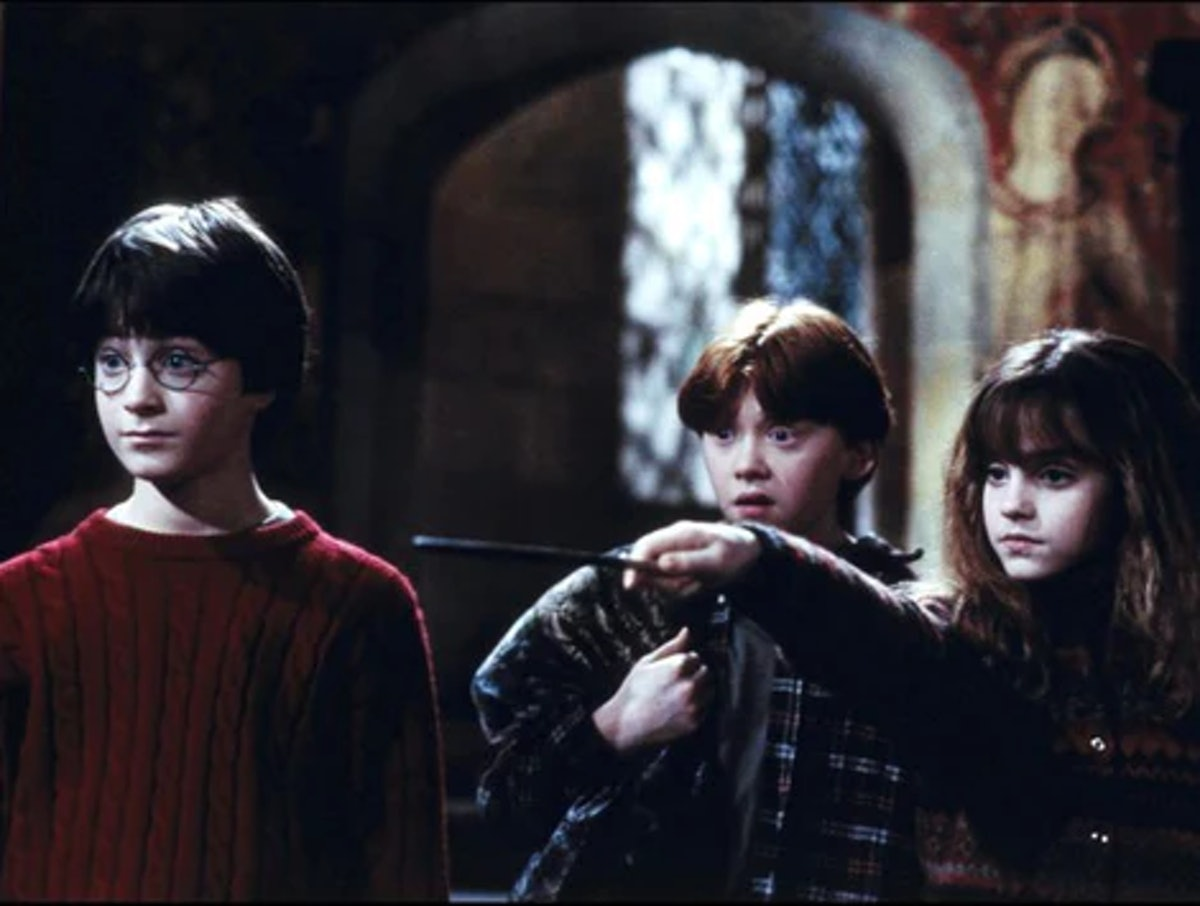 Harry, Ron, and Hermoine in Harry Potter and the Sorcerers Stone