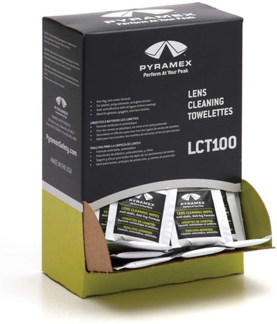 Pyramex Safety Individually Packaged Lens Cleaning Towelettes