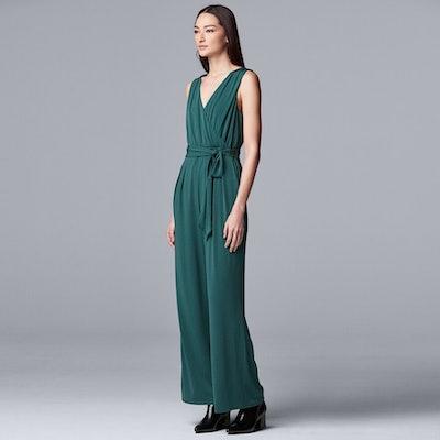 Simply Vera Vera Wang Sleeveless Wrap Jumpsuit