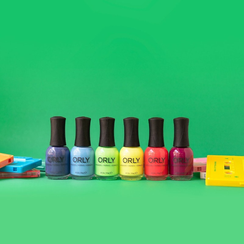 ORLY's newest nail polish collection features neons and two darker shades.