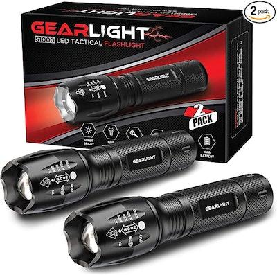 Gear Light Tactical Flashlight (2 Pack)