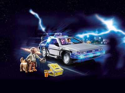 Playmobil is now selling a DeLorean plus Marty McFly and Doc Brown figurines