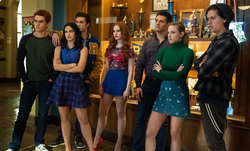 KJ Apa, Camila Mendes, Charles Melton, Madelaine Petsch, Casey Cott, Lili Reinhart, and Cole Sprouse in 'Riverdale' Season 4