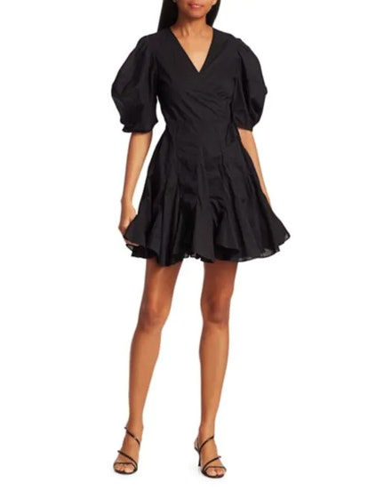 Rosie Puff Sleeve Wrap Dress