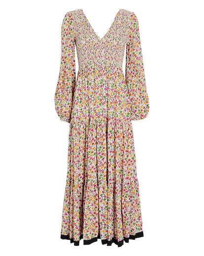 Brooke Micro Floral Midi Dress