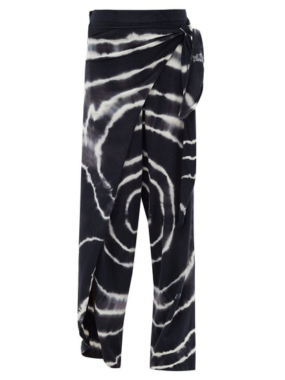 Tie-Dyed Wrap Trousers