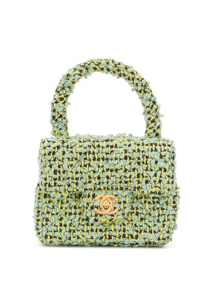 1991-1994 CC logos tweed handbag