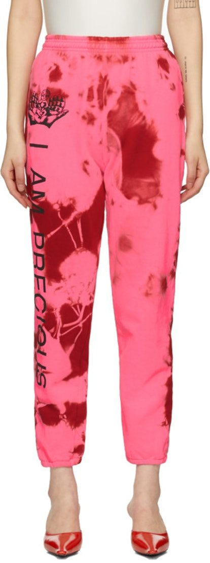 Pink 'I Am Precious' Lounge Pants