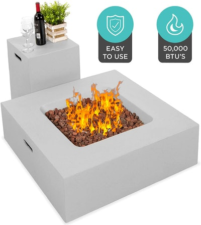 Best Choice Products Square Propane Fire Pit