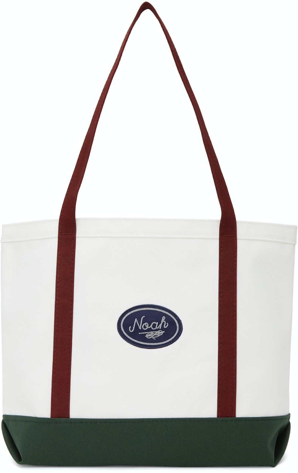 White Colorblocked Tote