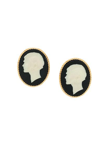 2007 portrait clip-on earrings