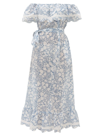 Lemnos Ruffled Broderie-Anglaise Cotton Dress