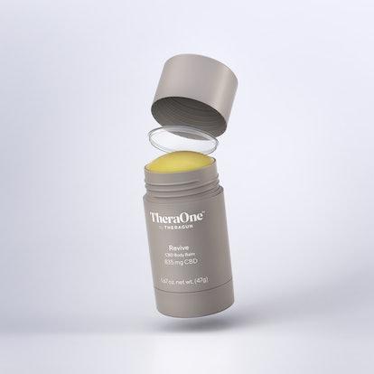 CBD Body Balm from Therabody's new CBD product line, TheraOne.