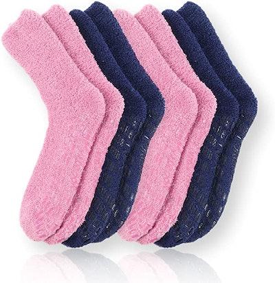 Pembrook Non Skid/Slip Socks (4-Pack)