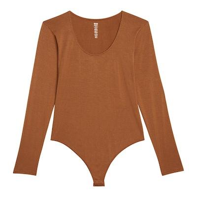 Long Sleeve Thong Bodysuit