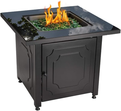 Endless Summer 30-Inch Propane Glass Top Fire Pit