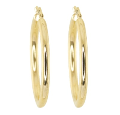 14KT GOLD LARGE THEIA HOOPS