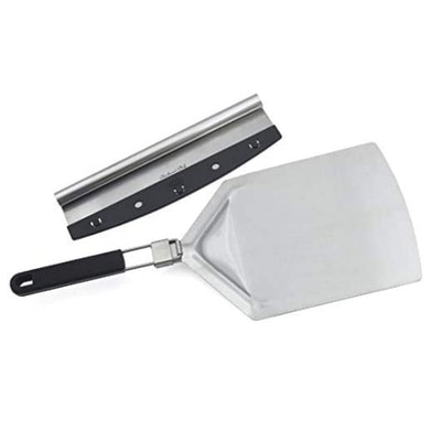 Checkered Chef Pizza Cutter And Pizza Peel Set