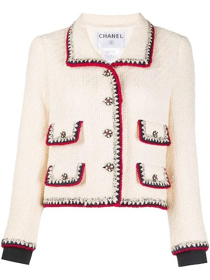 1990s single-breasted tweed jacket
