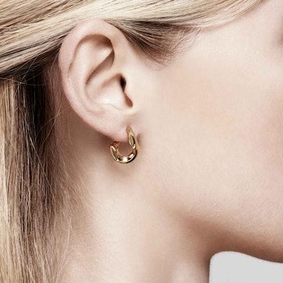 Pierced Chain Earrings