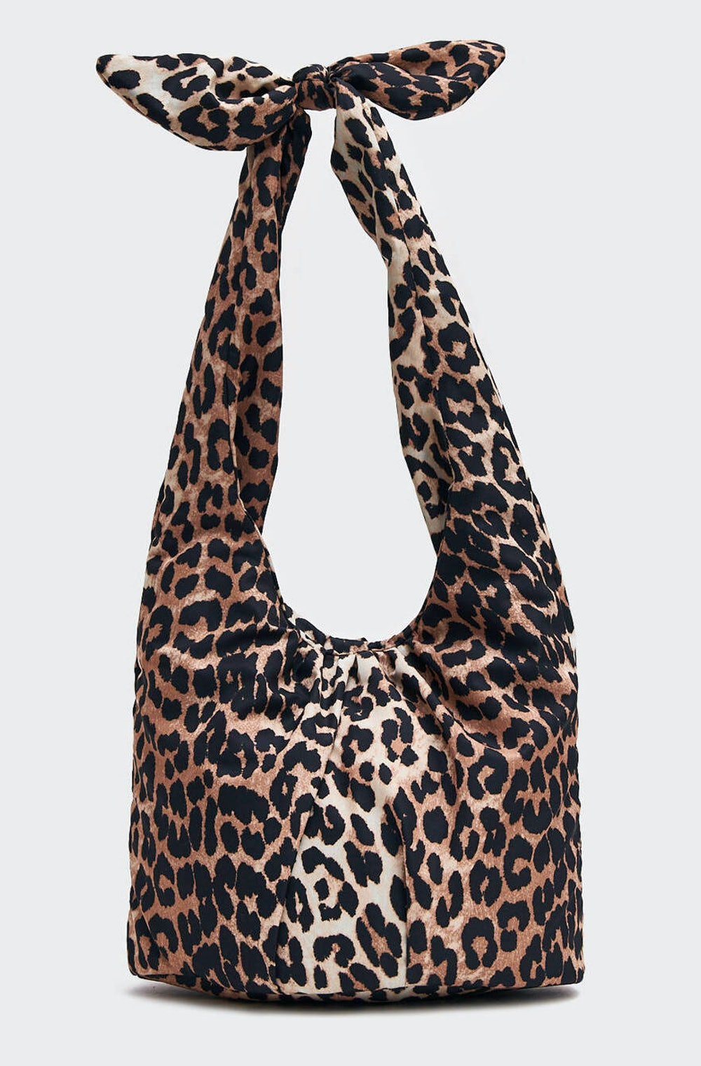 Large Padded Tie Tote in Leopard
