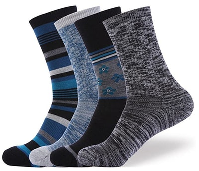 EnerWear Merino Wool Outdoor Socks (4-Pack)