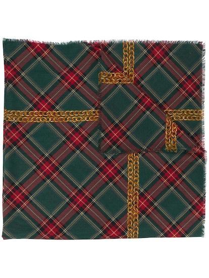 1990s CC chain print scarf