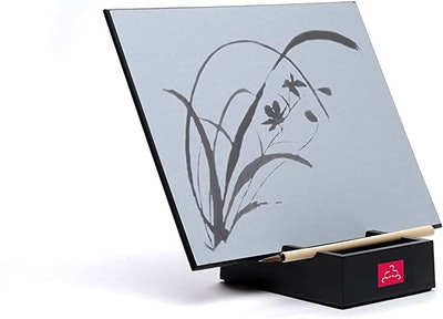The Original BUDDHA BOARD Water Painting with Bamboo Brush & Stand
