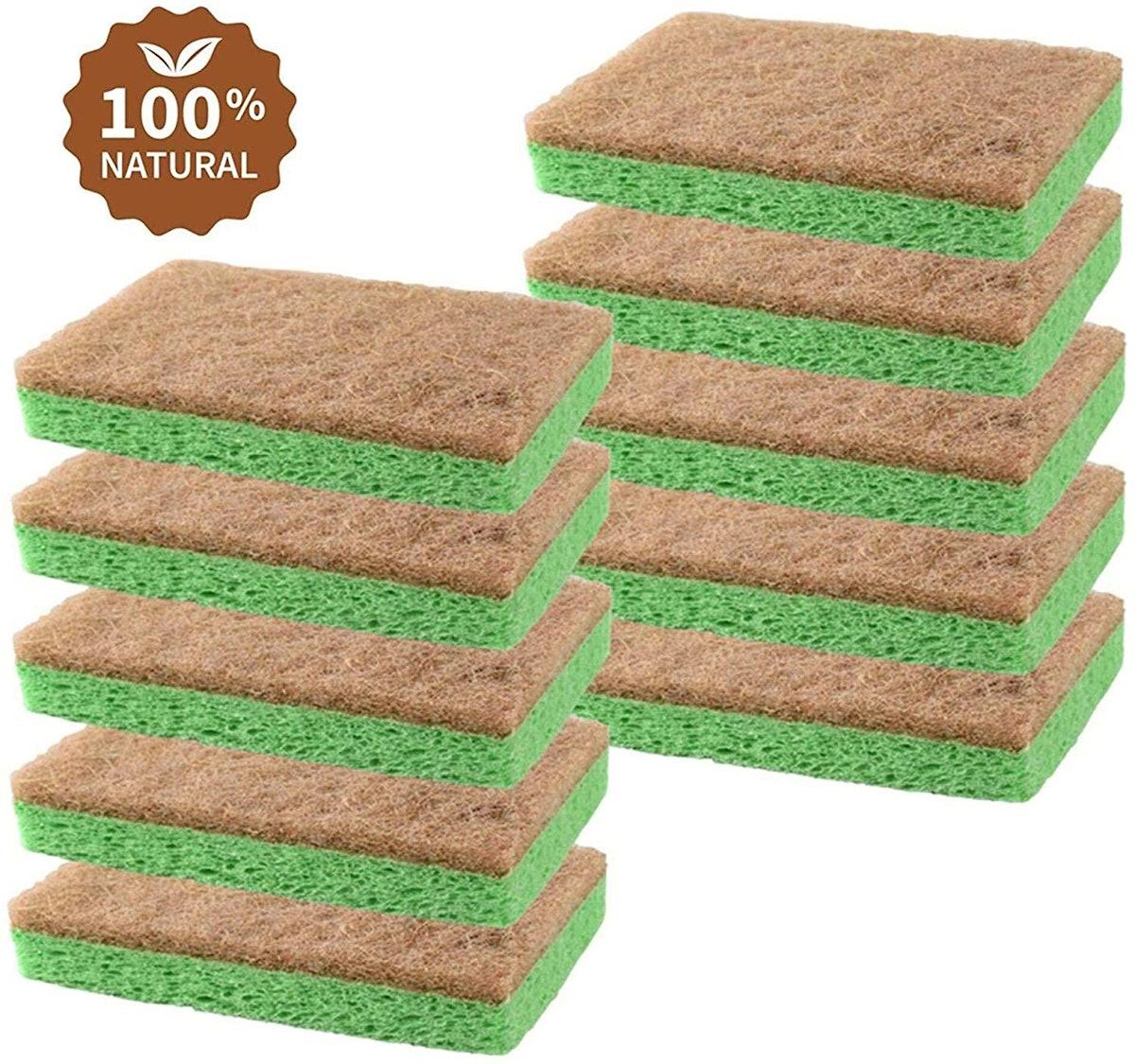 Scrub-it Natural Plant-Based Scrub Sponge (10-Pack)