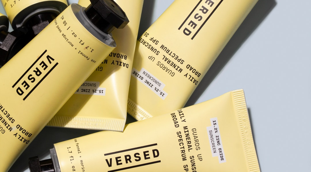 Versed's new Guards Up Daily Mineral Sunscreen in tubes.