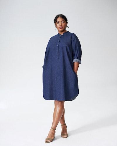 Hannah Denim Shirt Dress - Dark Indigo