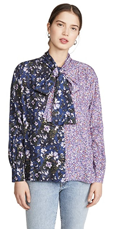 Viscose Flowers Draped Shirt