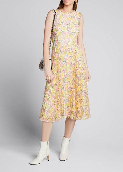 Print Chiffon Sleeveless Dress