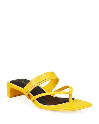 Colt Mid-Heel Square-Toe Slide Sandals